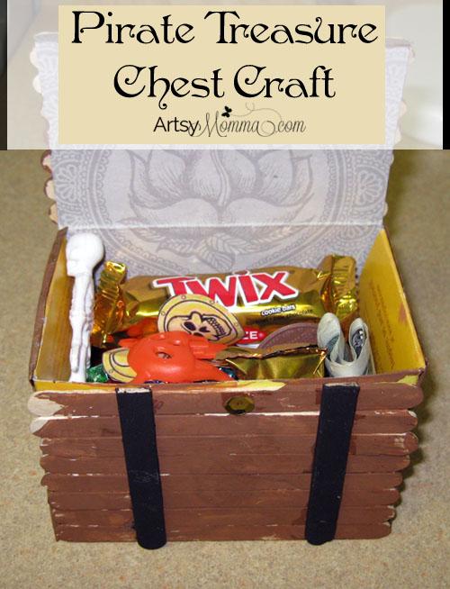 Talk Like a Pirate Day - Tresure Chest Craft