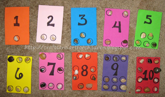 Counting/Numbers Busy Bag Idea