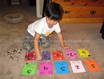 Learning to count fine motor skill boards