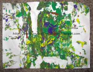 Painting with a Superball - Art Project for toddlers & preschoolers