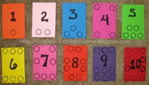 Homemade Number Boards - Learning to Count Activity
