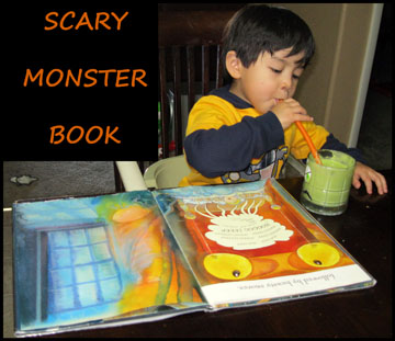 Reading a book about monsters