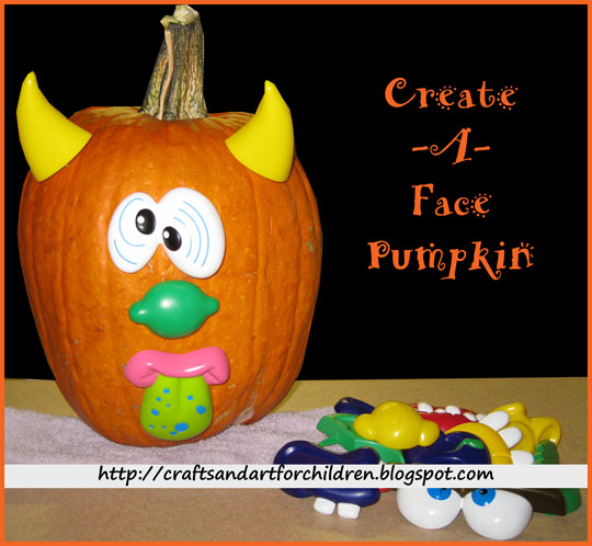 Create-a-Face Pumpkin Decorating Idea
