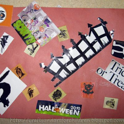 Toddler Halloween Collage
