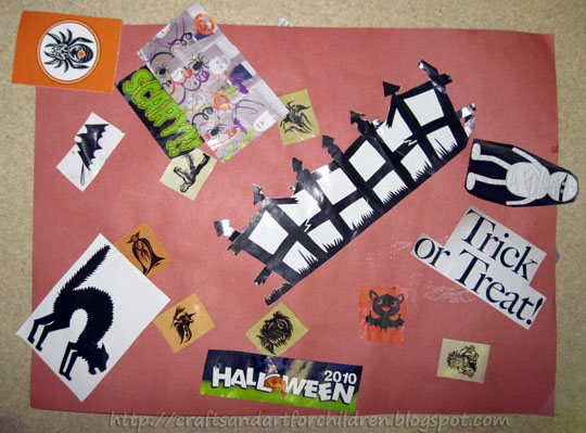 Toddler Halloween Collage