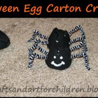 Halloween Egg Carton Creatures ~ Spider, Bat, & Black Cat