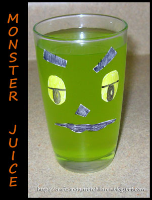 SIlly Monster Juice for Kids - Fun Food Idea