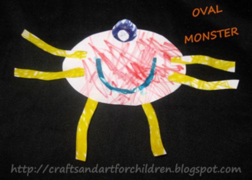 Oval Shape Monster Craft