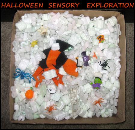 Halloween Sensory Exploration Bin