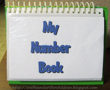 Homemade Photo Number Counting Book