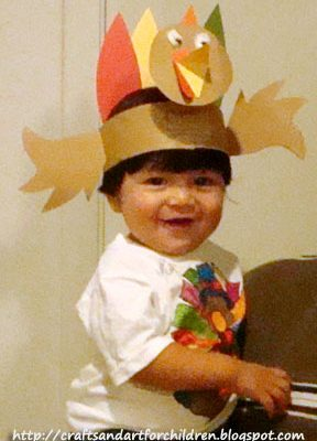 Kids Turkey Hat Craft & Handmade Color Your Own Thanksgiving T-shirt