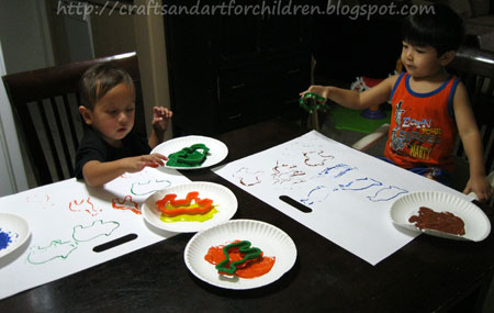 Painting with Cookie Cutters