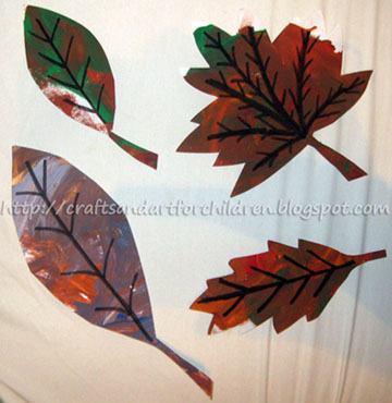 Painting Leaves Craft for Kids