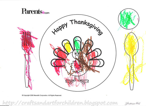 Printable Thanksgiving Turkey Placemat