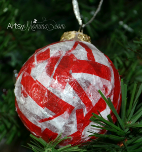 Candy Cane Inspired Ornament Craft for Kids