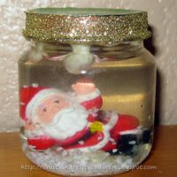 Snowglobes Made From Baby Food Jars