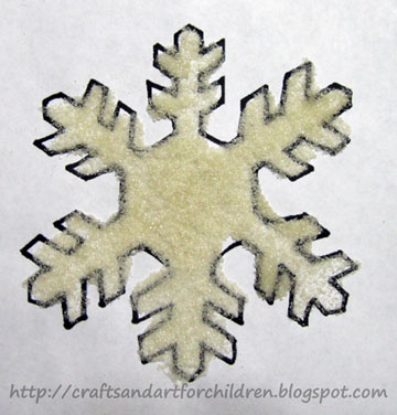 Easy Snowflake Art Project