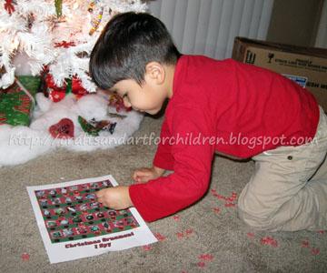 Christmas Tree Ornament I Spy Game