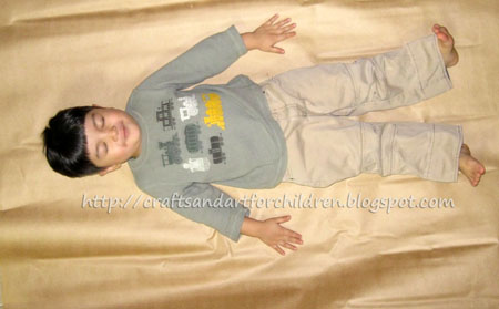 Life Sized Gingerbread Boy Craft for Kids