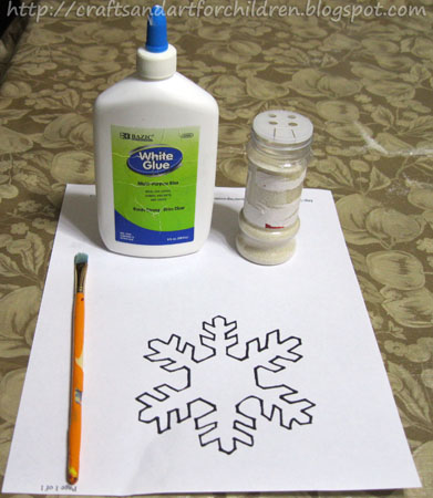 Kids Snowflake Craft