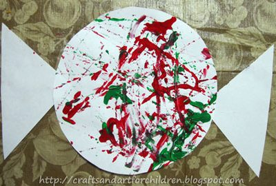 Christmas Marble Painting ~ Candy Cane, Peppermint Candy, & Candy Holder Crafts