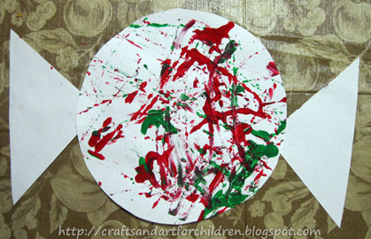 Christmas marble painting candy cane peppermint candy amp candy