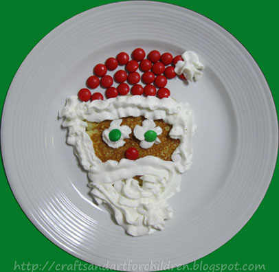 Santa Pancake Fun Food Idea for Christmas