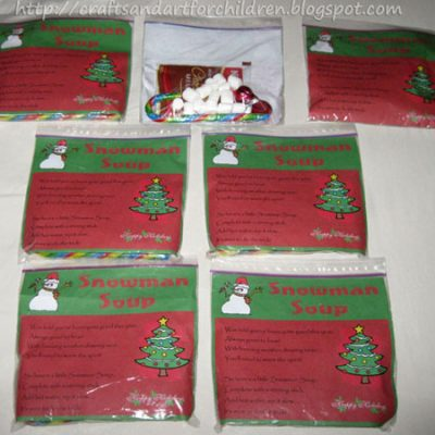 Snowman Soup with Free Printable Recipe Label