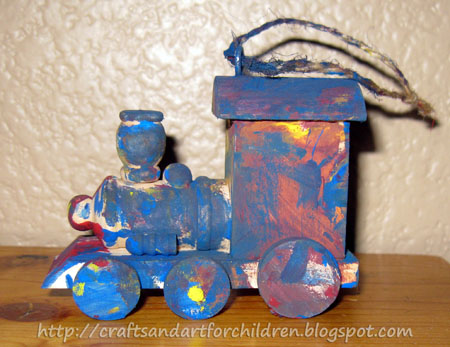 DIY Train Ornament Craft for Kids