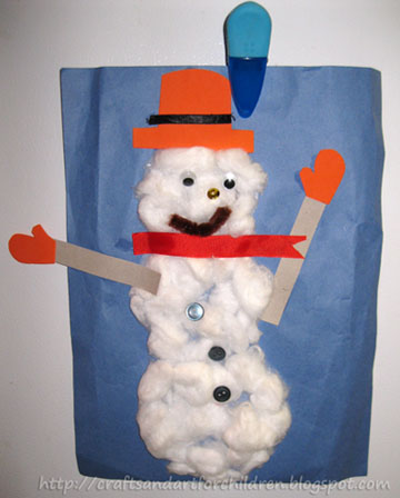 Create-A-Snowman Craft {Great for Toddlers}