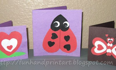 Heart-Shaped Animals {Valentine's Day Cards}heart