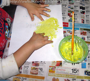 Homemade COlored Puffy Paint Recipe