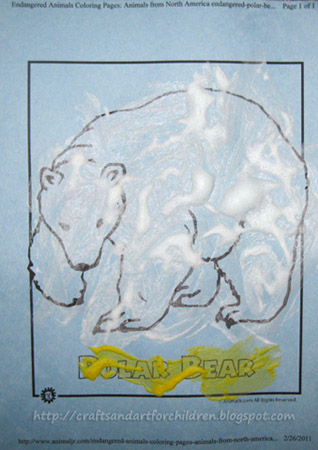 International Polar Bear Day Craft: Puffy Paint Polar Bear