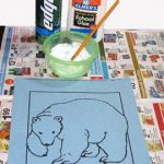 International Polar Bear Day Craft: Puffy Paint Polar Bear