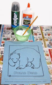 Puffy Paint Polar Bear Craft for Kids