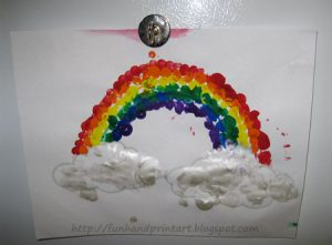 Fingerprint Rainbow Crafts