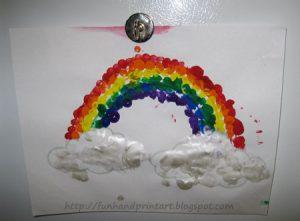 Fingerprint Rainbow Crafts