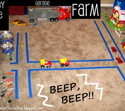 Cars Activity for Kids – Tape City