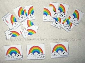 Rainbow counting and matching game