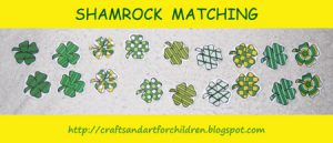Printable Shamrock Matching Game for St Patrick's Day