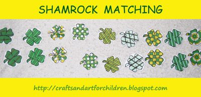 Shamrock Pattern Matching Activity