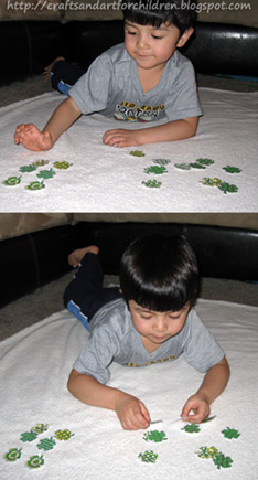 Shamrock Pattern Matching Activity for Preschoolers