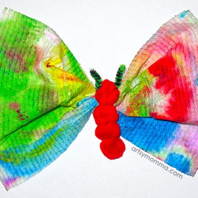 Pom Pom Caterpillar to Butterfly Craft – so cute!