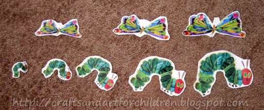 The Very Hungry Caterpillar Sorting Sizes Activity