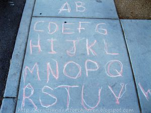 Outdoor Tracing Activity for a Preschooler - Prewriting Practice & Letter Recognition Activity