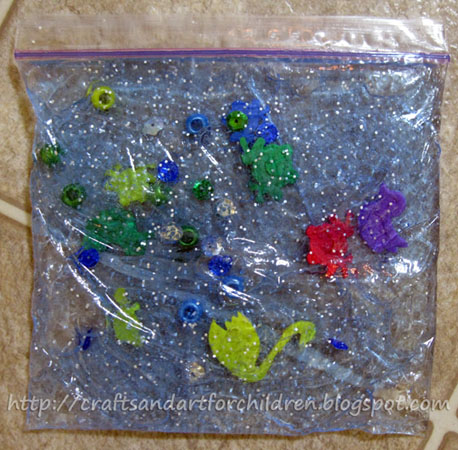 Ocean in a Bag Sensory Play Activity