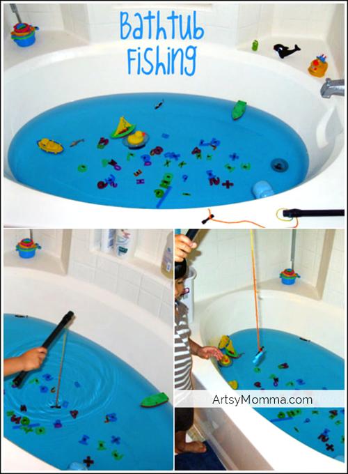 DIY Bathtub Fishing Game using Magnets