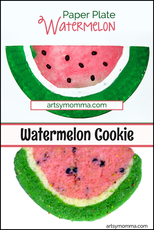 KIds Watermelon Craft & Watermelon Cookie