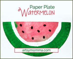 Paper Plate Watermelon - Kids Craft