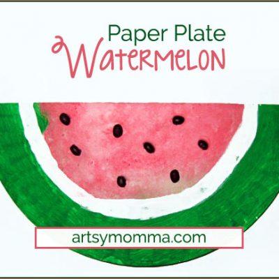 Paper Plate Watermelon - Kids Craft